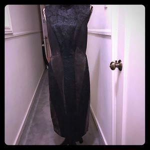 Donna Karan Black Label Mixed Media Dress 14